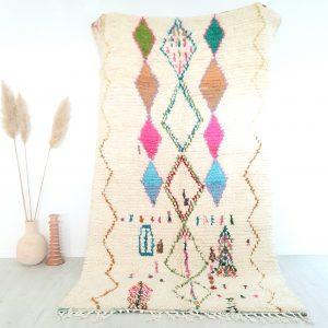 Tapis berbere Marocain fait main 100% laine de qualité supérieure
