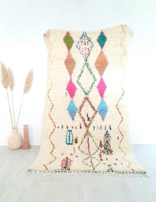 Tapis berbère Marocain fait main 100% laine de qualité supérieure