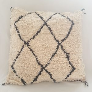 black and white moroccan pillow