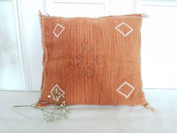 moroccan cactus silk pillow