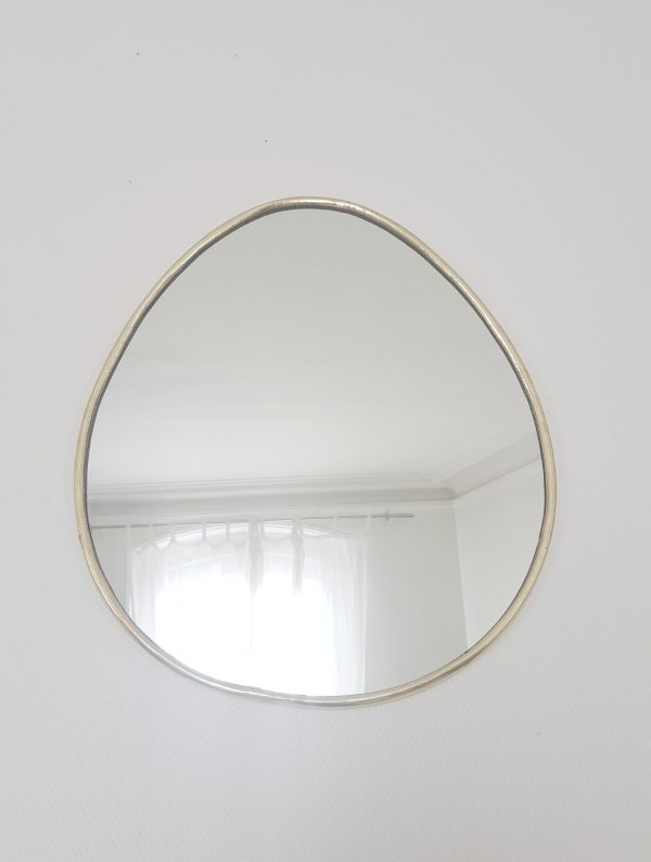 Miroir Marocain doré en forme d'oeug