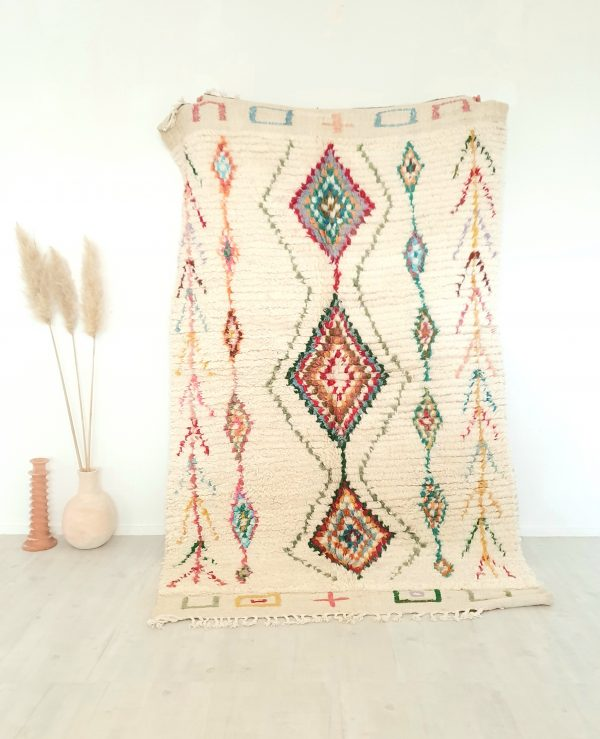 Tapis Berbère Marocain fait main 100% laine