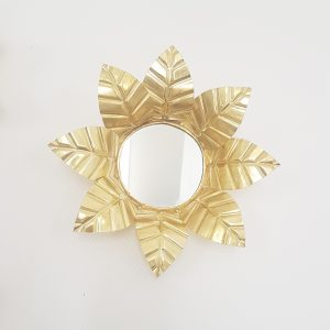 Miroir doré fait main au Maroc