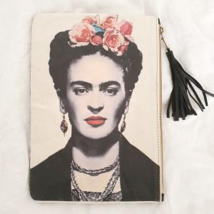 Pochette Frida Kahlo cousue main