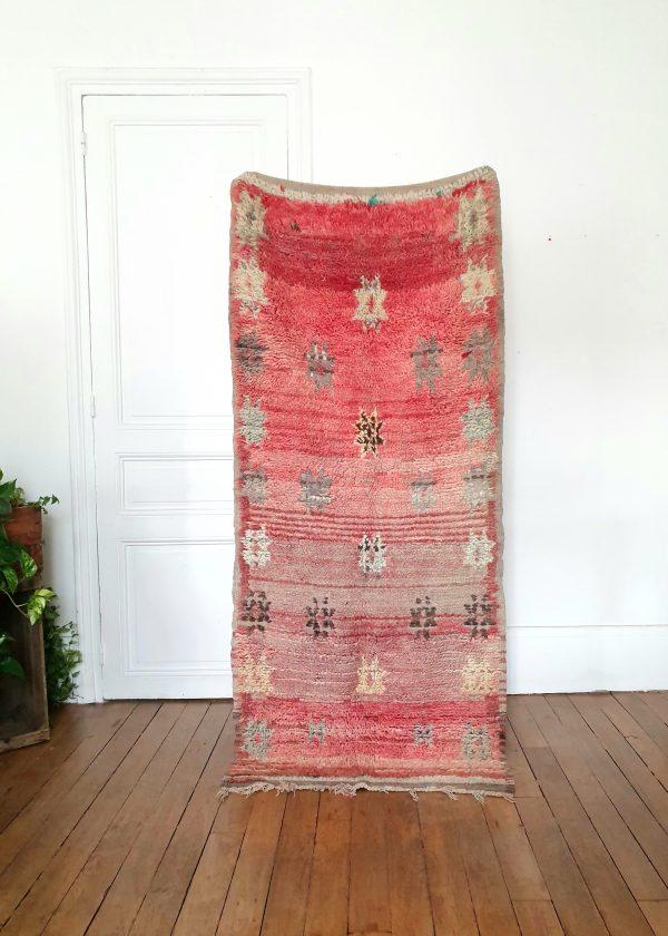 Vintage Moroccan wool rug