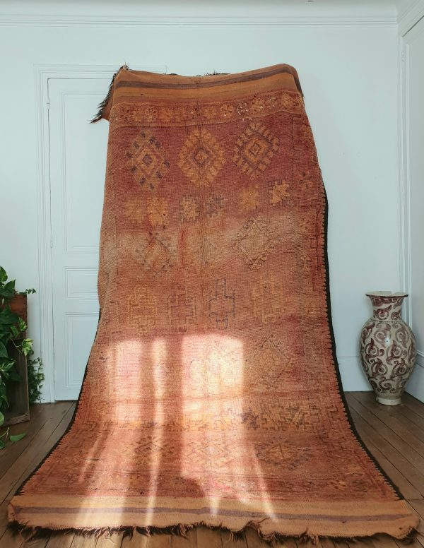 Vintage and rare berber wool rug