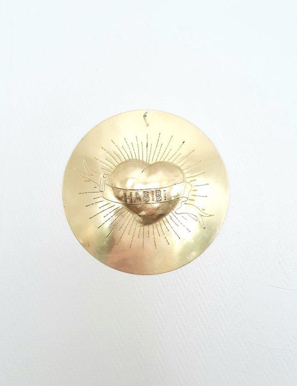 bijou de mur en métal doré
