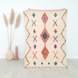 Tapis berbère Marocain fait main 100% pure laine
