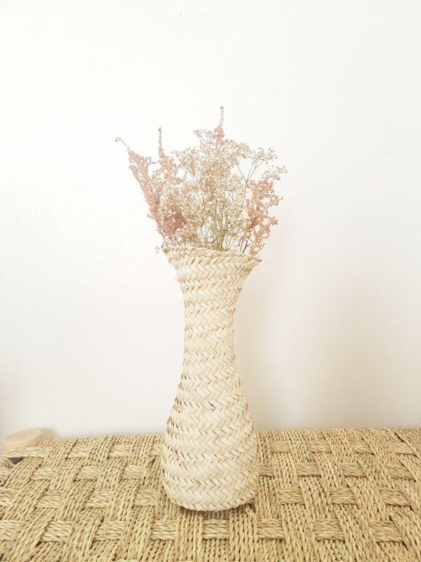 Vase en paille artisanal fait au maroc