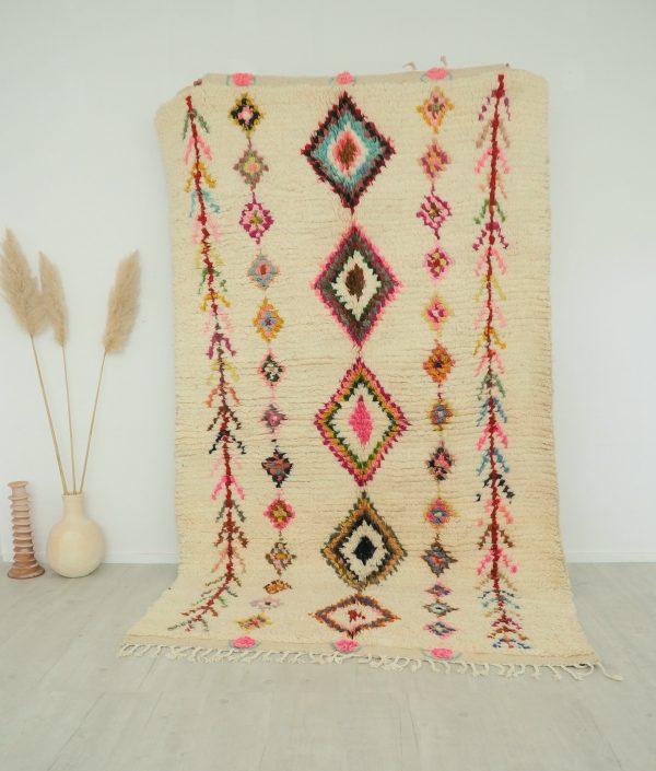Tapis berbere Marocain en pure laine fait à la main