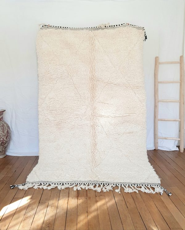 Authentic moroccan white rug