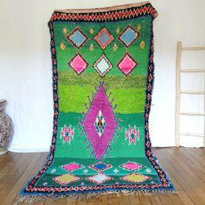Tapis Boucharouite vintage marocain