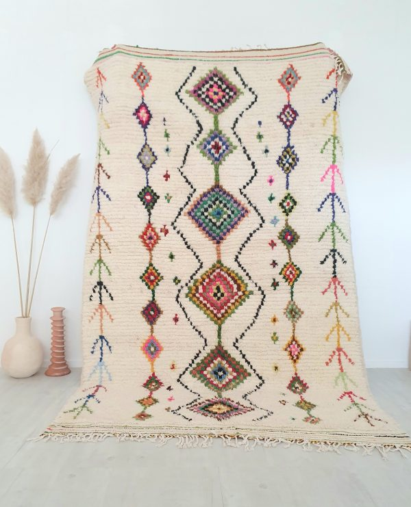 Tapis berbere Marocain fait main en pure laine