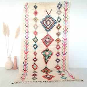 Tapis berbère Marocain fait main en pure laine