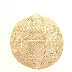 Suspension luminaire en fibres naturelles de raphia