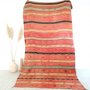 Tapis berbere Kilim vintage 100% pure laine fait main