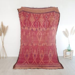 Tapis berbere Marocain ancien en pure laine