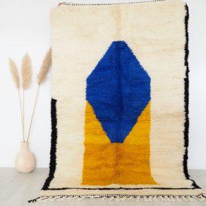 Tapus berbère Marocain fait main 100% laine très dense et moelleux