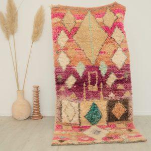 Tapis berbère vintage fait main en pure laine