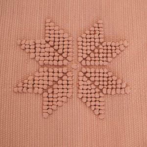 Tapis Portugais fait main 100% coton recyclé couleur vieux rose