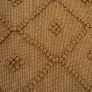 Tapis Portugais fait main en coton recyclé couleur marron camel
