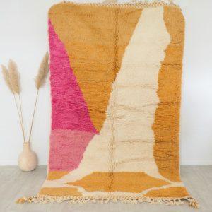Tapis Berbère Mrirt fait main en pure laine vierge